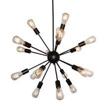 Lampe suspendue industrielle Vintage à spoutnik, 8/12/16/18 têtes, luminaire décoratif dintérieur, idéal pour un Loft, un Restaurant, un Bar, ac 110/220V