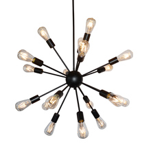 Vintage Industrial Loft Pendant Light 8/12/16/18 Heads Sputnik Pendant Lamp AC110V 220V Restaurant Bar Lights