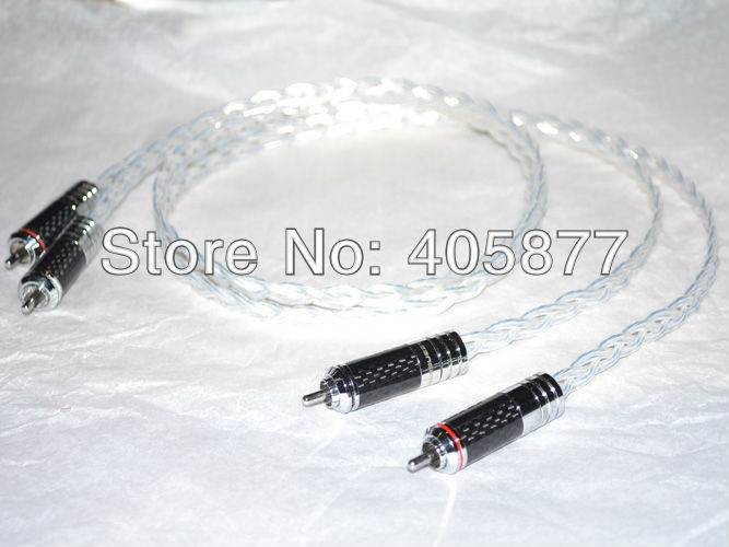 Hi-End silver plated RCA Interconnect cable 1M