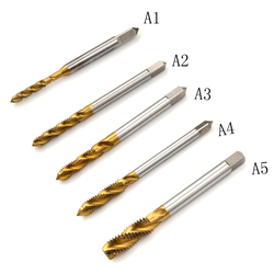 New M3-M8 Metric Taps Screw Taps HSS Titanium Coated Drill and Tap Bits 1/4