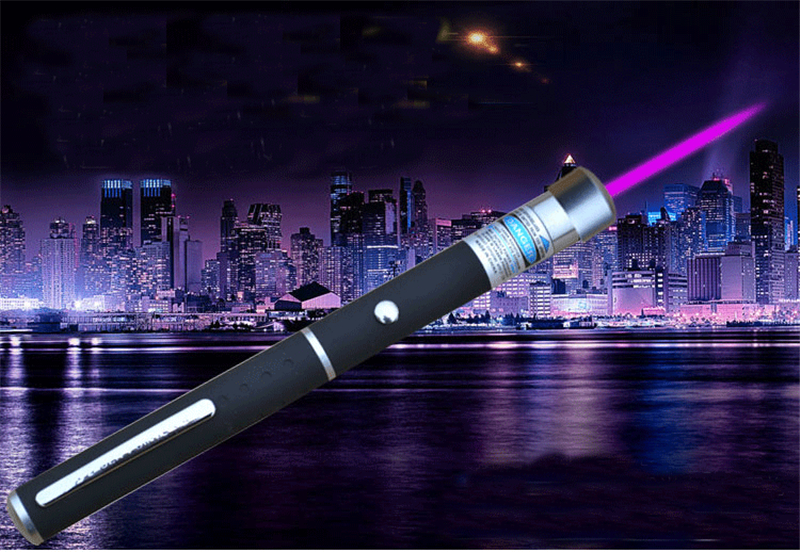 LED purple laser Flashlight Popular pointer light teaching meeting stick hand Portable laser lamp use AAA battery