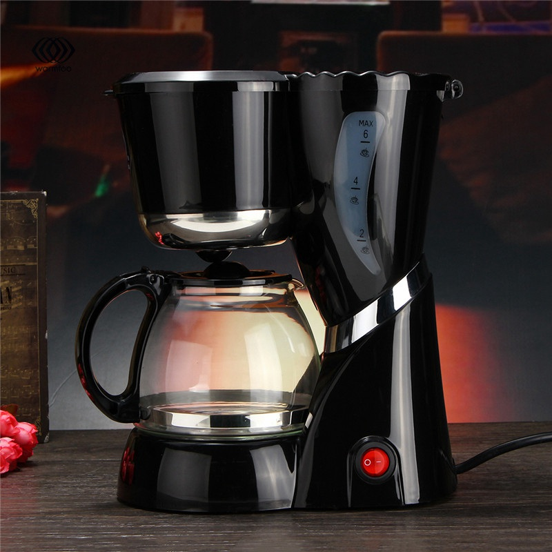 600 ML 220-240V 550W Electric Drip Coffee Maker Machine Black Hourglass Make Cafe Tea Multifunctional AU cukyi electric automatic hourglass coffee maker drip cafe american coffee machine white