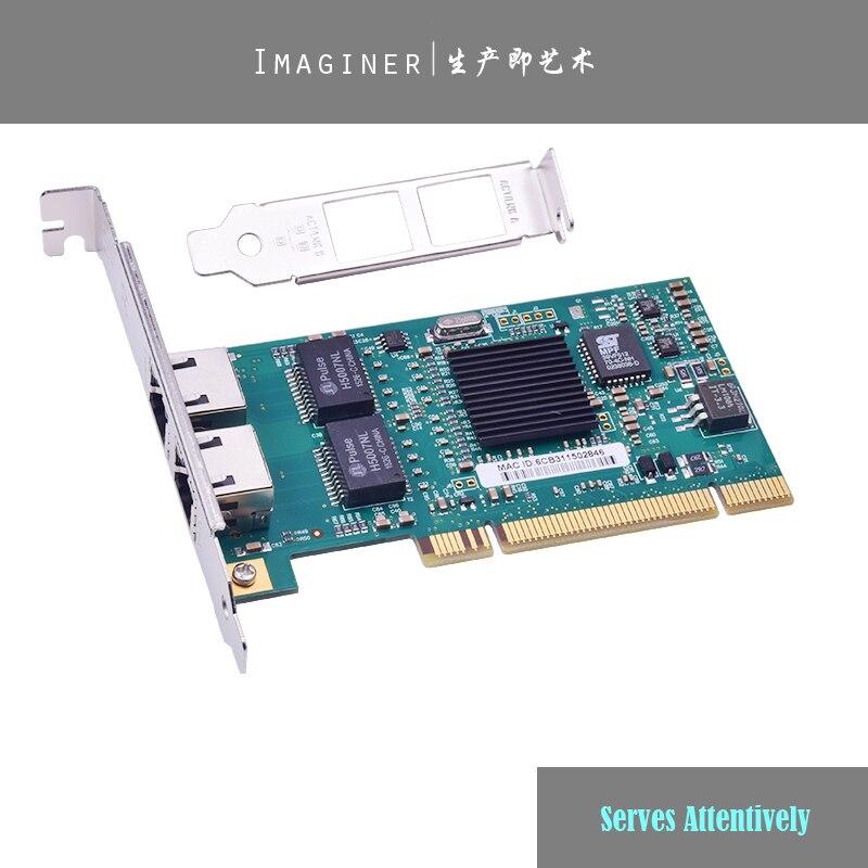 PCI 32bit Dual-port Gigabit Ethernet 8492MT 82546EB/GB 10/100/1000Mbps RJ45 Sever Network Card Support RouterOS.