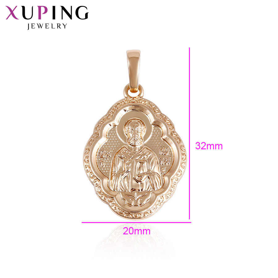 Xuping Fashion Elegant Cross Religion Pendant Gold Color Plated for Women Christmas Jewelry Gift S37.7-33131