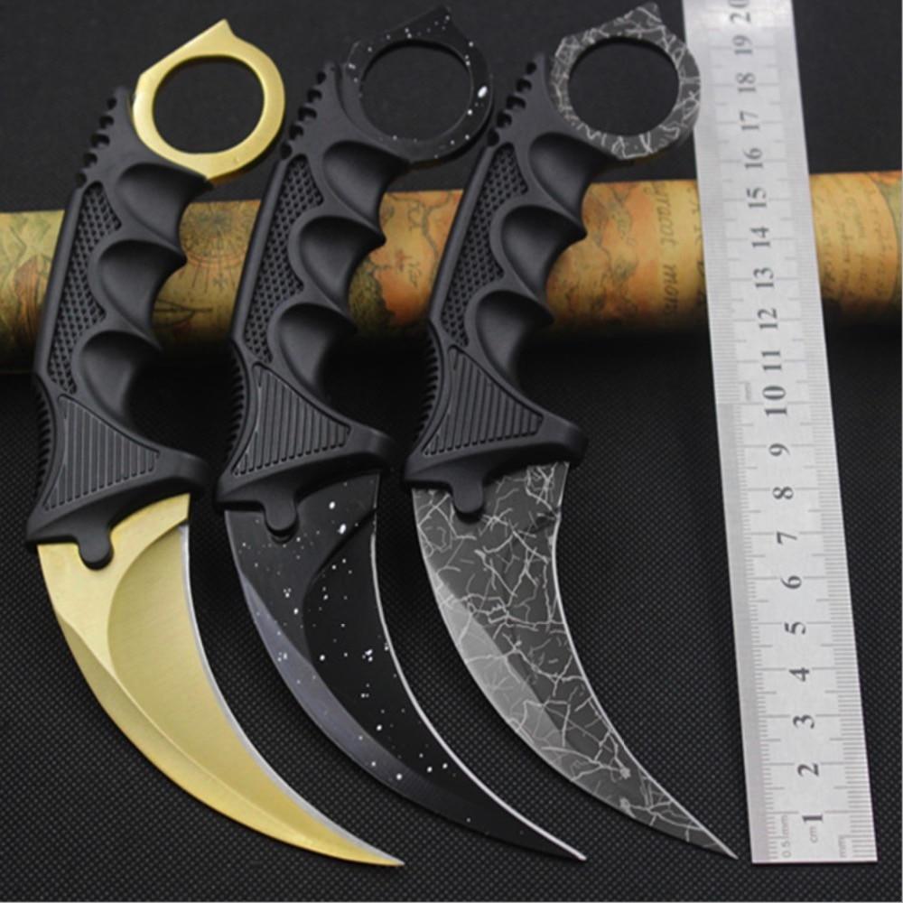 Binoax Karambit Couteau CS GO Counter Strike Couteaux de Chasse de Survie Couteau de Camping Outils