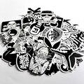 60 ШТ. Пакет Случайная музыка Скейтборд Гитара Футляр стикер Черный и белый Автомобиль наклейка Симпатичные Наклейки мода забавные наклейки
