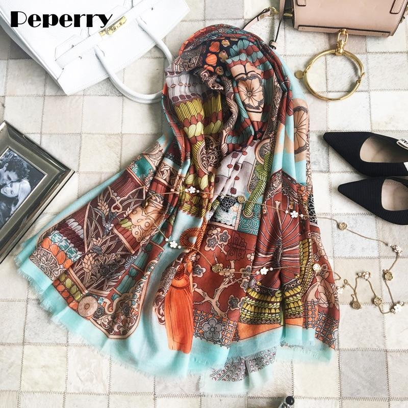 Pure Cashmere Scarf Women Design Luxury Brand Scarves Shawls Wraps Warrior Armor Warm Winter Scarves Bandanas 140*140cm