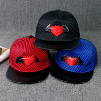 10pcs Free Shipping2016A 059 Spring Gradient Batman Mesh Hip Hop Cap Men Women Snapback Baseball Hat