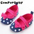Zapatos del Niño Del bebé Zapatos de Lona 2016 Femenina Bebé Recién Nacido Bebé Zapatos de Suela Blanda WMC243
