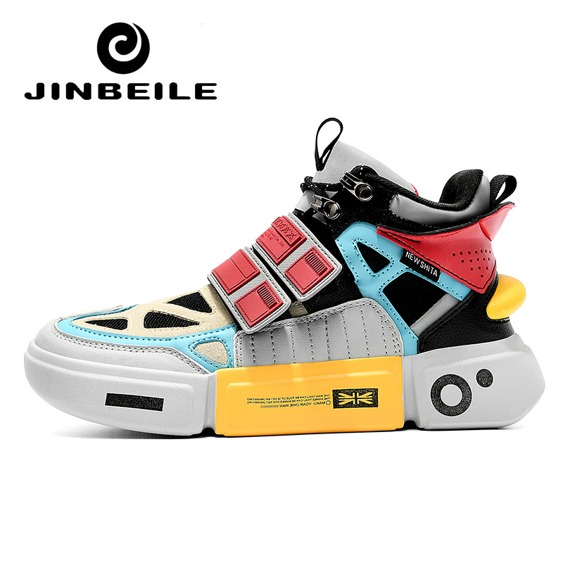 2019 Newest Skateboard Shoe Men Breathable Sport Shoes Outdoor Vogue Multicolor Summer Men's Sneakers High Top Zapatillas Hombre