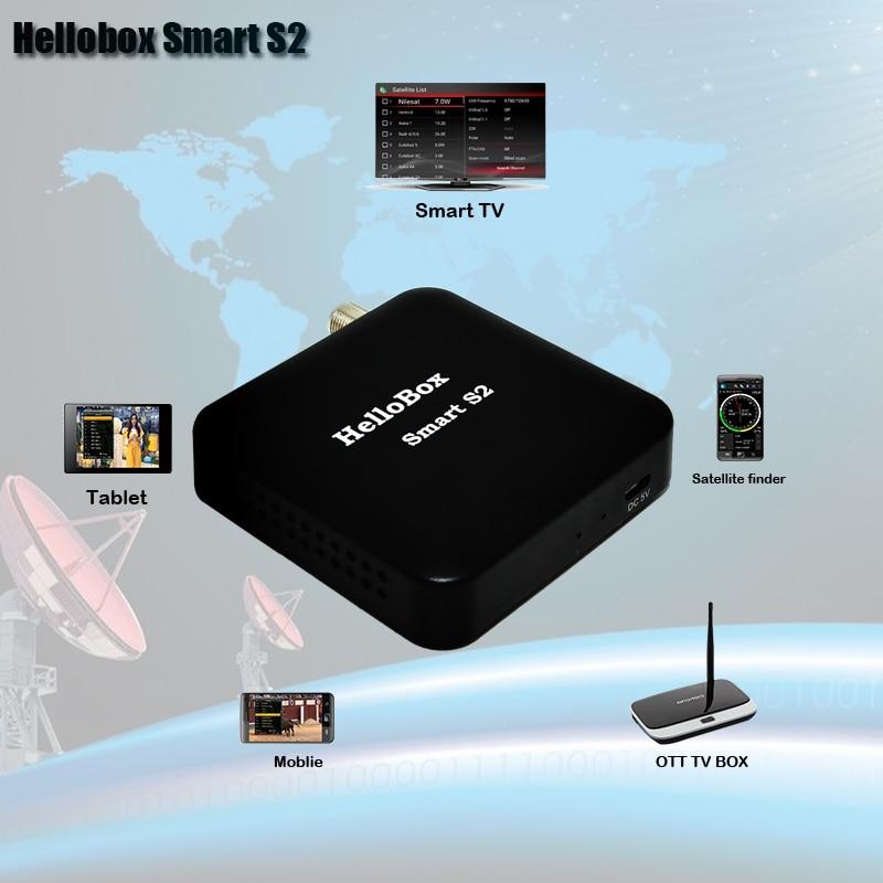 Hellobox Smart S2 Receiver Satellite Mobile /Tablet/Smart TV/OTT BOX Play Satellite Finder DVBS2 Android/IOS Satellite Receiver