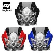 Universal Motorcycle Street Fighter Headlight Motorbike Fairing Head Lamp Bike