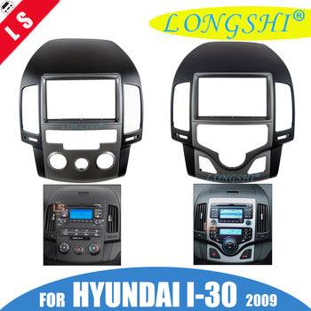 Car Fascias Audio Panel Frame Dash Kit For Hyundai i30 2007 2008 2009 2010 2011 2012 2013 (MANUAL / AUTO AC, KOREAN, LHD) 2Din csp15 auto ac compressor pump with clutch for chevrolet cruze 2007 2008 2009 68799768 13250596 135310475