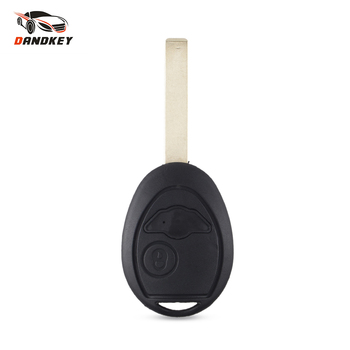 Dandkey 20pcs Replacement Remote Car Key Shell For BMW Mini One Cooper R50 R53 Blank Key Fob Case Cover 2 Buttons Uncut Blade