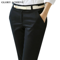 Thicken Warm Velvet Women Winter Trousers 2018 Black Khaki Mid Waist Stretch Pencil Pants Female Fleece Office Pantalon
