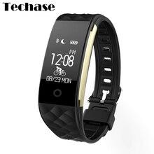 Techase Новое поступление Bluetooth Smart Браслет Велоспорт трекер монитор сердечного ритма cicret браслет IP67 сообщение Дисплей SmartBand
