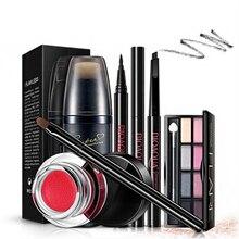 New Women Brand makeup set,Fashion cosmetics kit,Anti-wrinkle BB Cream,WaterProof Roll Mascara,Magic Eyeliner,Cushion Lipstick