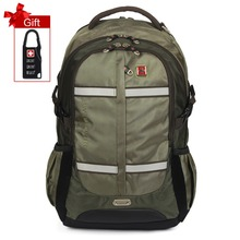 Swisswin music backpack men 15 16 laptop backpack high quality Army Green bag Safe in night