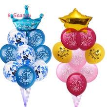 цена 8 Season Baloons 1st Birthday Balloon Air 2nd One 1 2 Year Old First Birthday Party Decor Latex Balloon Kids Favor Baby Shower онлайн в 2017 году