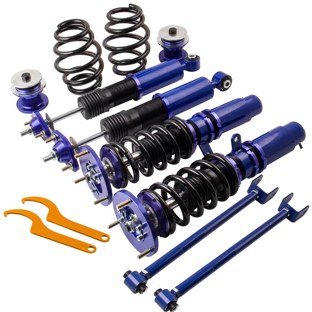 US $265 44 16% OFF|Complete Coilovers Suspension for BMW E46 3 Series 320i  323i 328i 330i M3 Adj Height Shock Absorber with Control arms-in Shock