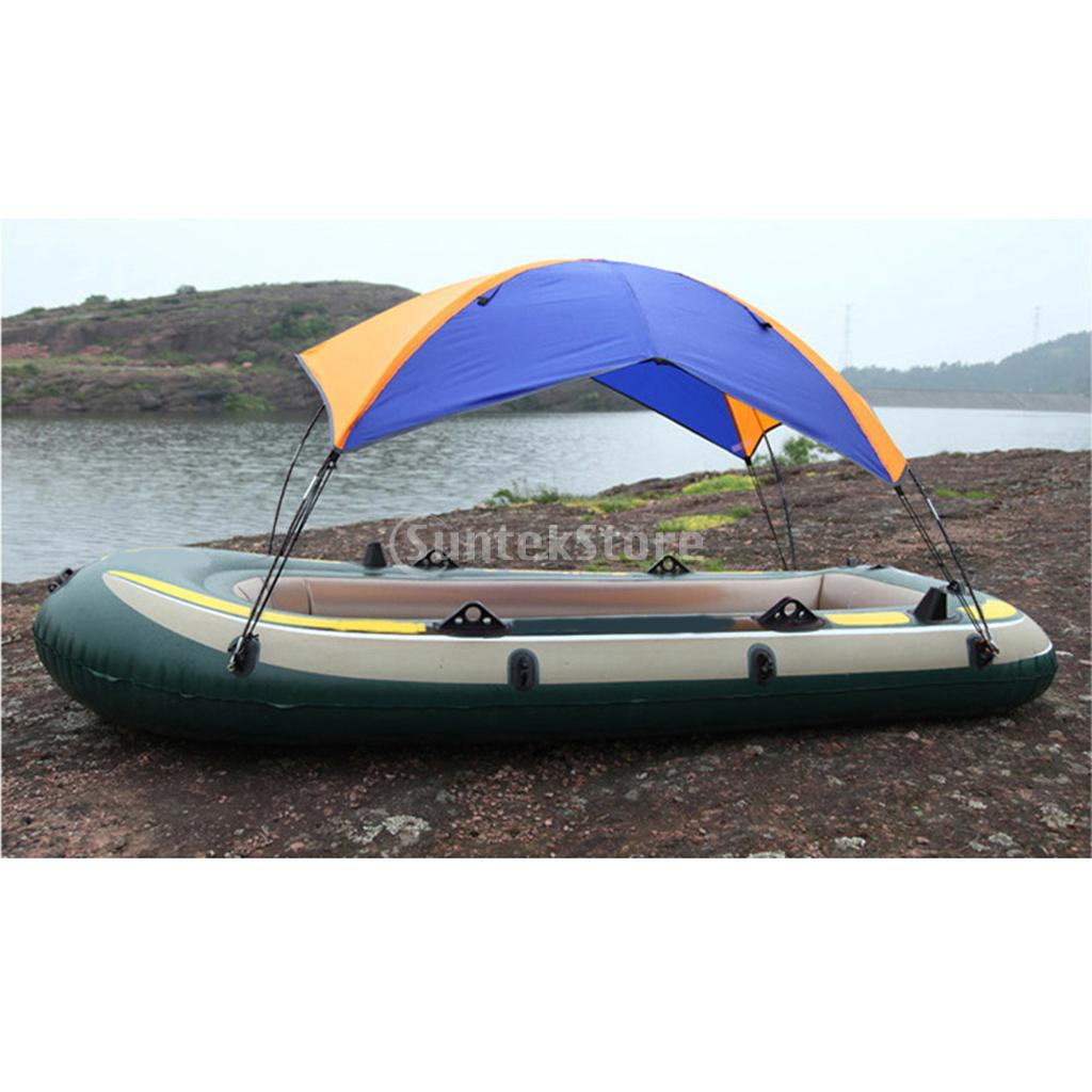 3 Person Inflatable Boat Kayak Rowing Boat Canopy Awning Anti-UV Sun Shade Shelter Rain Cover Fishing Tent & Hardware Accesories outdoor 1 person inflatable boat canoe kayak sun shelter awning top cover sun shade blue for camping hiking fishing equipment