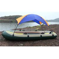 3 Person Inflatable Boat Kayak Rowing Boat Canopy Awning Anti UV Sun Shade Shelter Rain Cover Fishing Tent & Hardware Accesories