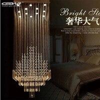 new modern crystal lamp large crystal chandeliers lustres foyer chandelier lighting