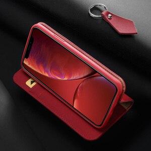 Image 4 - DUX DUCIS حقيقية محفظة جلدية حقيبة لهاتف أي فون XR الفاخرة خمر حقيقي جلدي فليب بطاقة غطاء ل فون Xs ماكس XR iPhoneXr