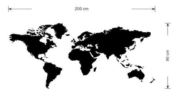 HOT PCSHUGE Xcm CCR Big Global World Map Atlas Vinyl - Big black and white world map