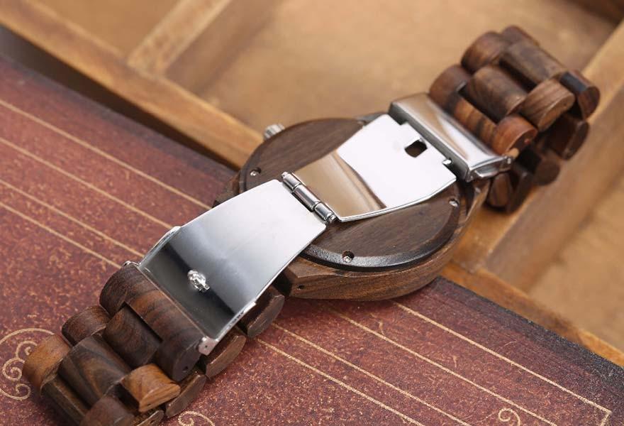 Walnut Wood Watch Men Natural Wooden Watches Male Casual Wristwatch Brown Clock 11