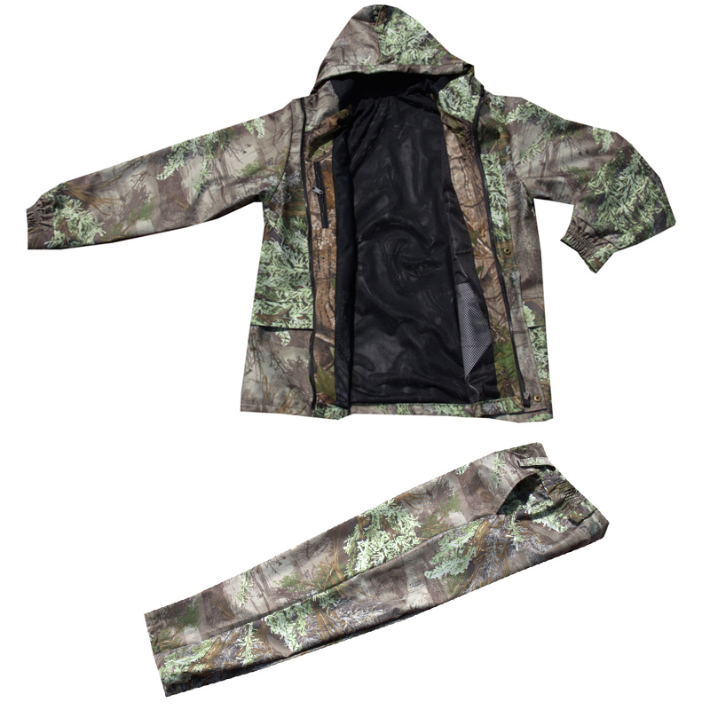 Medium thickness Waterproof breathable pine needle 3D Bionic Camouflage Tactical Hunting Clothing Ghillie Suit Jacket and
