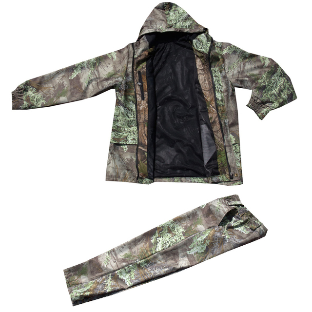 f16f2a25e8d83 Medium thickness Waterproof breathable pine needle 3D Bionic Camouflage  Tactical Hunting Clothing Ghillie Suit Jacket and pants