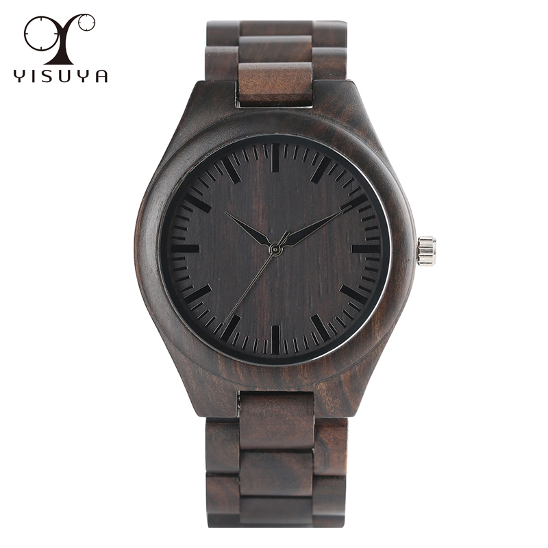 YISUYA Creative Wood Watch Handmade Bamboo Women Men Analog Quartz Wooden Wrist Watch Reloj de madera fashion top gift item wood watches men s analog simple bmaboo hand made wrist watch male sports quartz watch reloj de madera