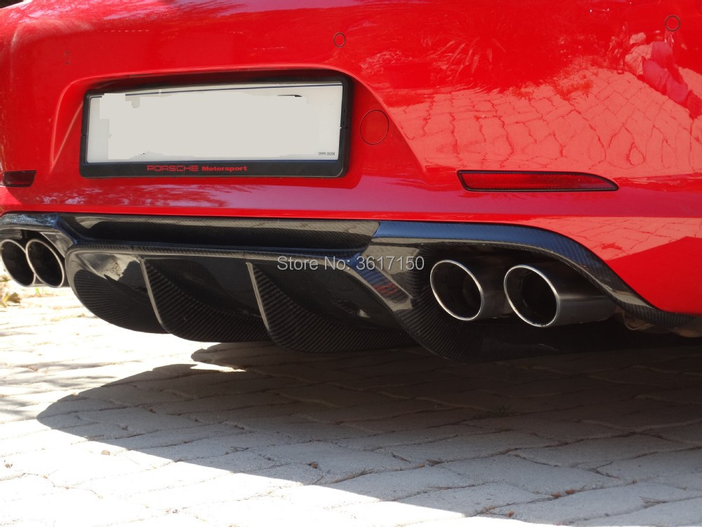 Carbon Fiber Rear Lip Designed For Carrera 991 S 4S Of The V Style Carbon Fiber Front Diffuser ...