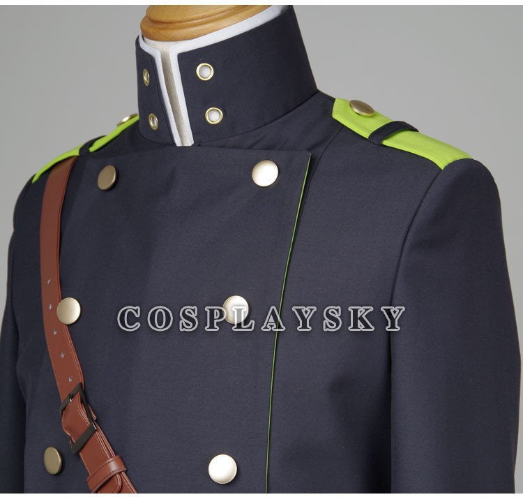 Seraph of the End Owari no SerafuYuichiro Hyakuya Uniform Cosplay Costume_07