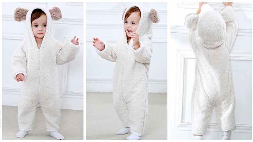 9a7bac1dd391 ... Детские комбинезоны, плюшевый хлопковый комбинезон, детские пижамы с  милым мультяшным медведем для мальчиков и ...