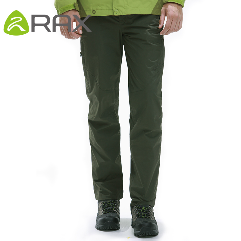 Rax Men Waterproof Hiking Pants Windproof Outdoor Sports Warm Soft Shell Hiking Camping Winter Pants Men 44-4A031 mens winter softshell pant waterproof trousers cycling skiing hiking camping pants men soft shell fleece thermal outdoor trouser