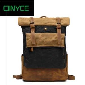 CIINYCE Canvas Backpack for Men Laptop School Bags be23c8c076b19
