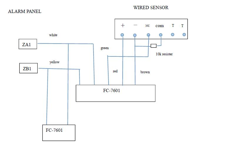 FC-7601 wired zones