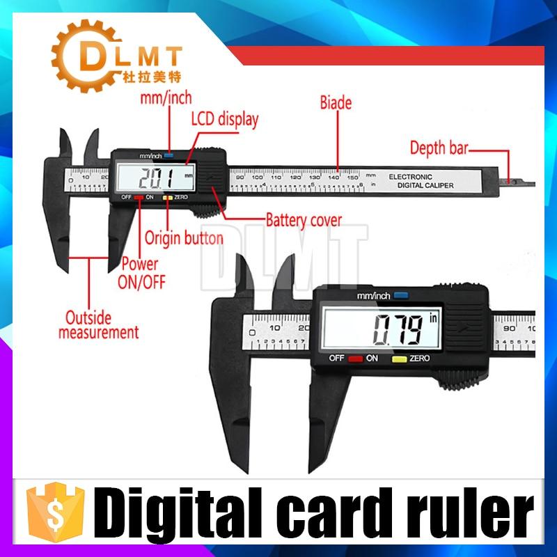 QST008 LCD Digital Electronic Carbon Fiber Vernier Caliper 150mm 6 Inch  Gauge Micrometer Measuring Tool
