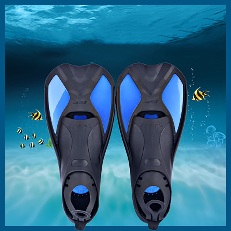 Swimming Fins Adult Snorkeling Foot Flipper KIDS Diving Fins Beginner Swimming Equipment Portable Short Frog Shoes