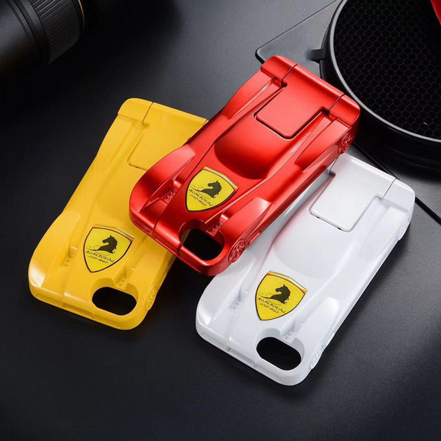 look for 18553 e7e3d US $10.39 23% OFF|Hot Cool Transformers 3D Ferrari Sports Car Holder Stand  Phone Case For iPhone X 10 8 Plus Hard PC Cover For iPhone 6 6S 7 Plus-in  ...