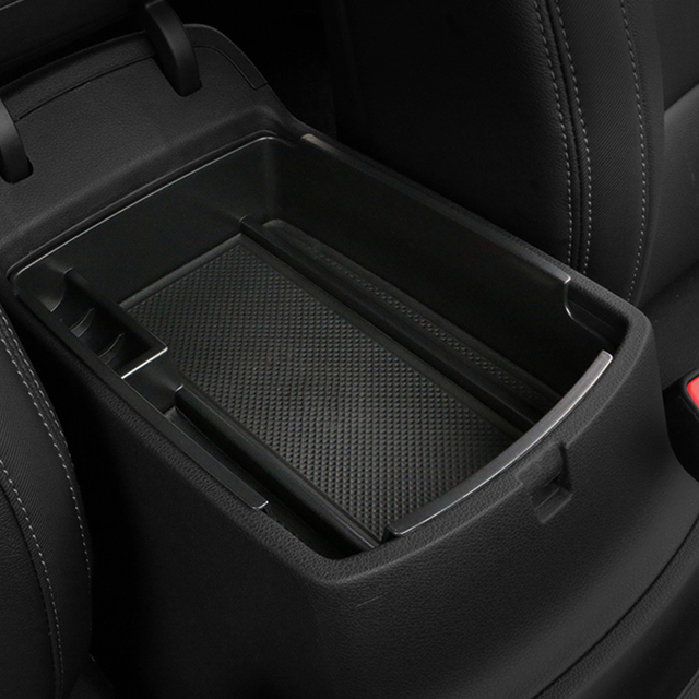 1 Piece ABS Black Car Glove Box Armrest Storage Box For Kia Sportage KX5 QL AT LHD 2016 2017 2018 ( For Electronic Hand Brake )