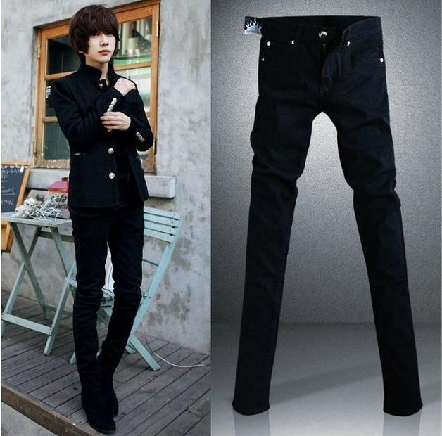 NEW 2018 Indoor Casual Men hip hop skinny jeans men Teenagers Black Solid slim fit Pencil Pants homme pantalon jeans Trousers