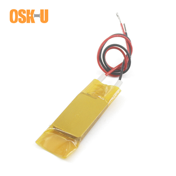 2PCS 220V Constant Temperature PTC Heating Element 70/150/280/120 Celsius Degree 24X15X3mm Insulated Film Heater Plate