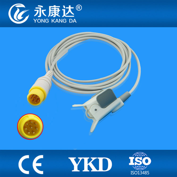 Compatible MEK-(CSI model) pediatric finger clip SpO2 Sensor 3m,8pins,TPU футболка женская insight make em blind tee raw white