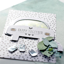JC Happy Together Metal Cutting Dies for Scrapbooking Craft Car Shape Stencil Handmade Paper Card Making Model Decoration