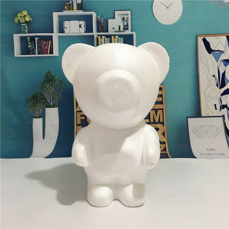 Bricolage matériaux mousse ours blanc artisanat modélisation polystyrène polystyrène polystyrène boules pour la décoration de fête fournitures cadeaux saint valentin