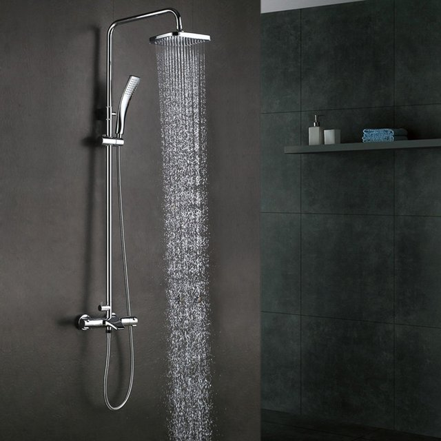 Thermostatic Bathrube & Shower System Rainfall Shower Head ...