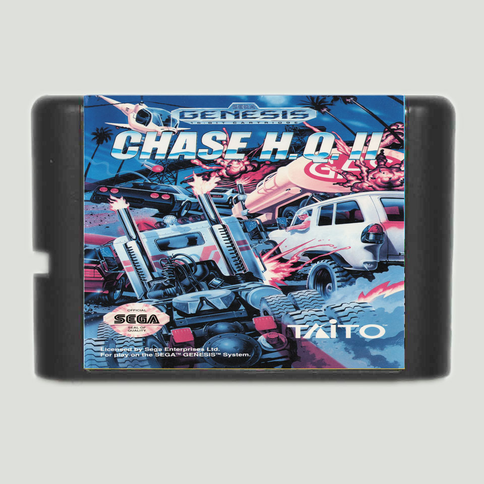 Chase H.Q.II 16 bit MD Game Card For 16 bit Sega MegaDrive Genesis game console image